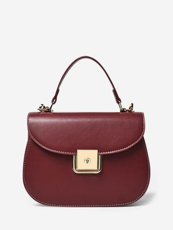 best PU Leather Flap Saddle Bag - RED WINE