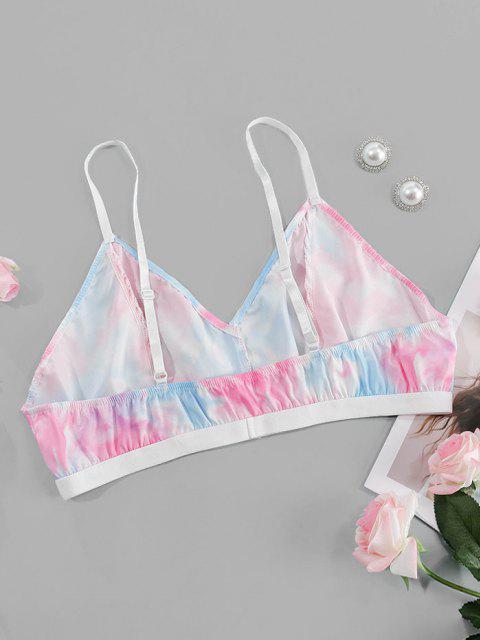 Plus Size Tie Dye Lingerie Bra - Hell-Pink 1XL Mobile