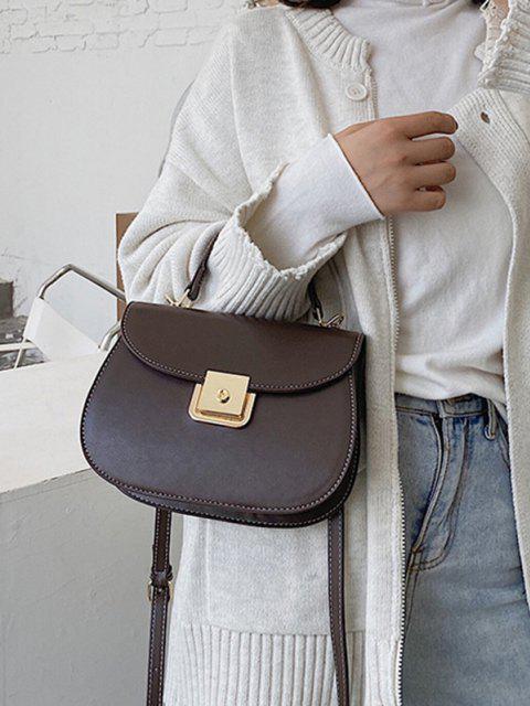 Klappe Satteltasche aus PU Leder - Kaffee  Mobile