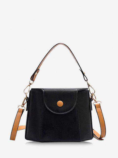 ladies Colorblock Cover Crossbody Bucket Bag - NIGHT  Mobile
