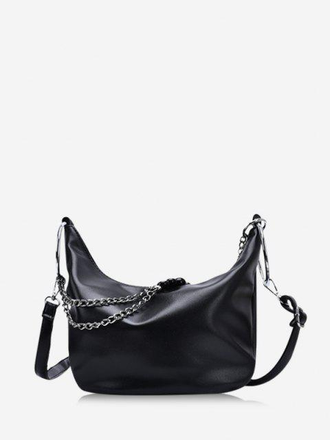 best Leisure Chain Beads Crossbody Bag - BLACK  Mobile