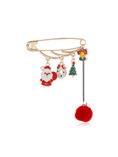 Christmas Fringe Safe Pin Brooch - Multi-e