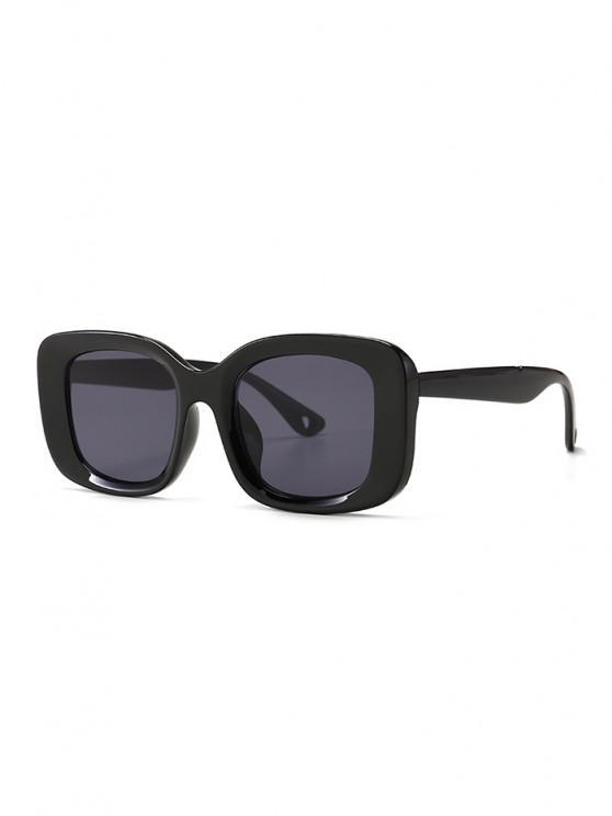 Retro Wide Rim Square Sunglasses - أسود