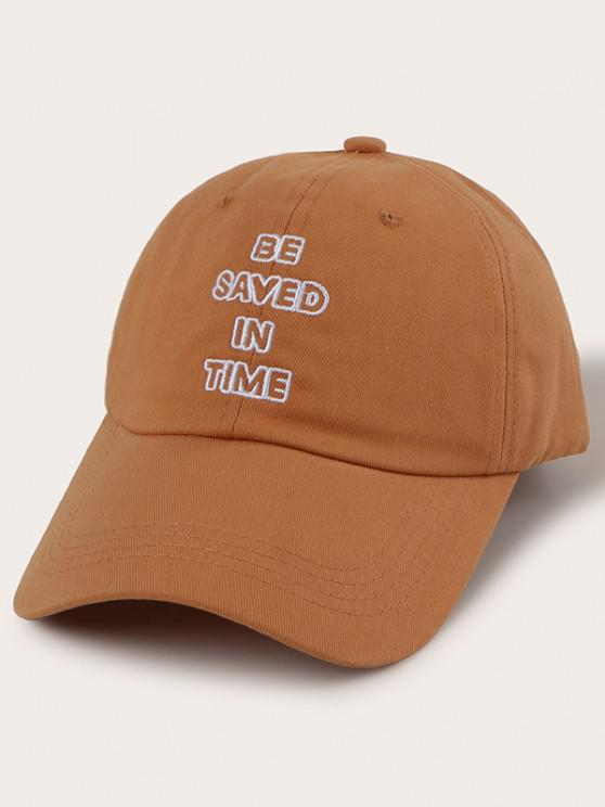 outfits Hollow Letter Embroidery Baseball Cap - COFFEE