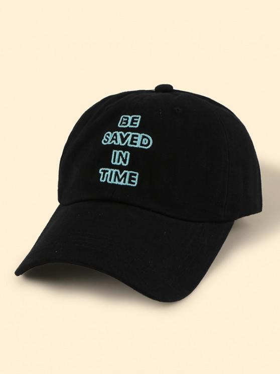 shop Hollow Letter Embroidery Baseball Cap - BLACK