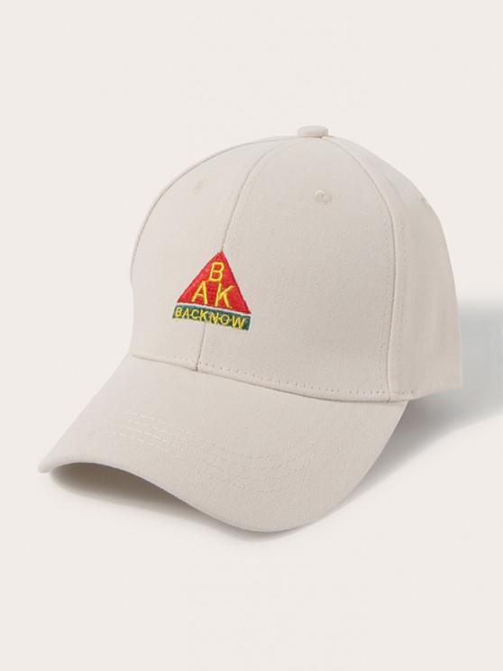 shops Letters Embroidered Graphic Baseball Cap - CORNSILK