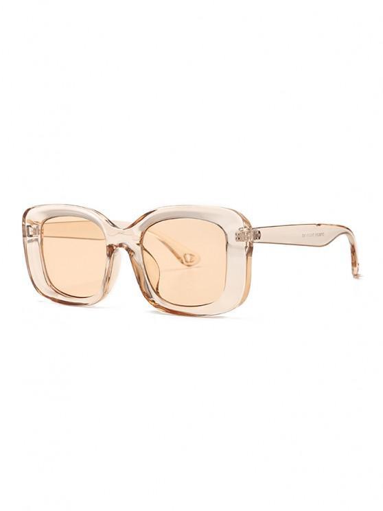 chic Retro Wide Rim Square Sunglasses - CHAMPAGNE