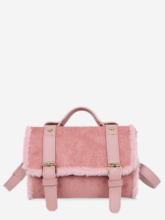buy Fluffy Crossbody Messenger Bag - LIPSTICK PINK