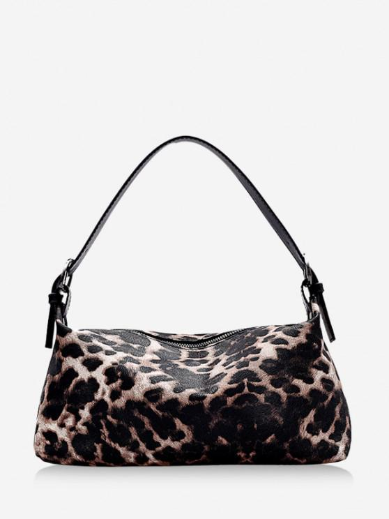 online Animal Print PU Leather Shoulder Bag - KHAKI