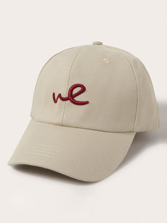online Embroidered Letter We Baseball Cap - BEIGE
