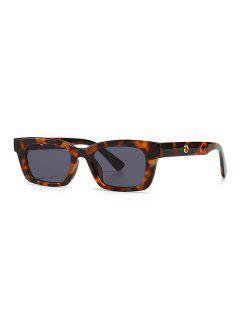 Gafas De Sol Estrechas Huecos - Leopardo