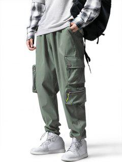Drawstring Ankle Utility Pocket Cargo Pants - Army Green L