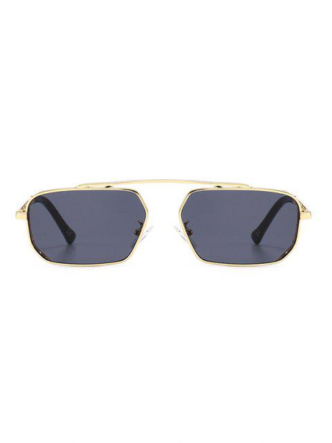 outfits Metal Bar Narrow Irregular Sunglasses - BLACK  Mobile