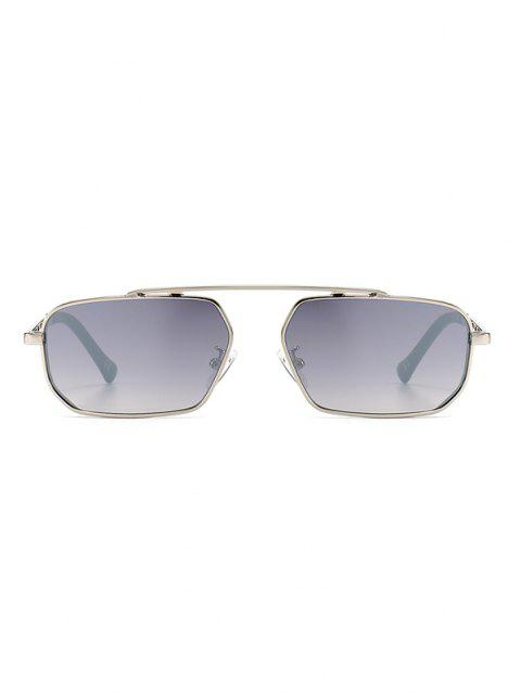 shop Metal Bar Narrow Irregular Sunglasses - PLATINUM  Mobile