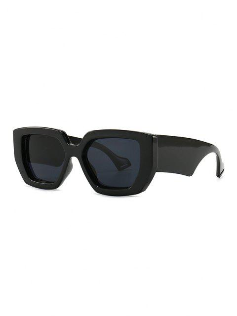 chic Irregular Wide Rim Retro Sunglasses - BLACK  Mobile