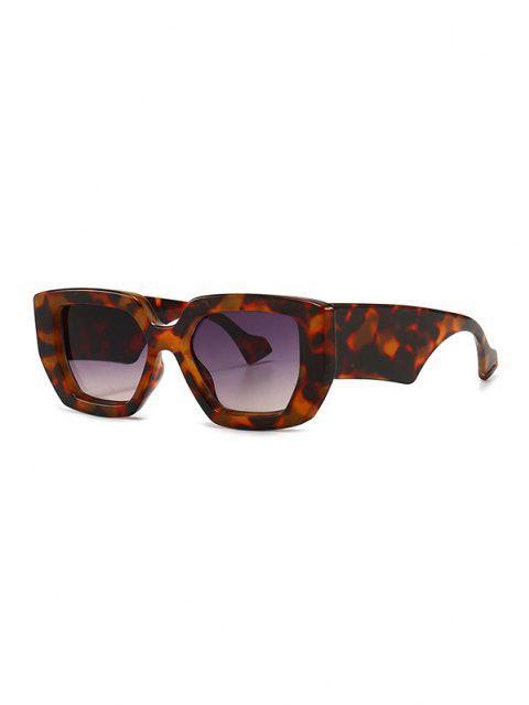 fancy Irregular Wide Rim Retro Sunglasses - LEOPARD  Mobile