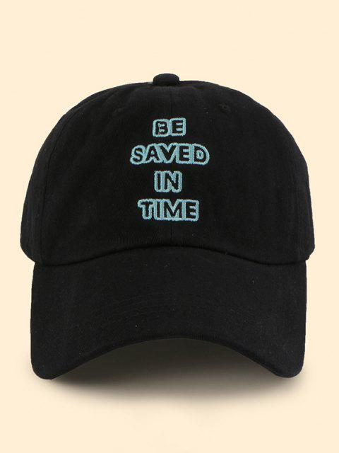 shop Hollow Letter Embroidery Baseball Cap - BLACK  Mobile