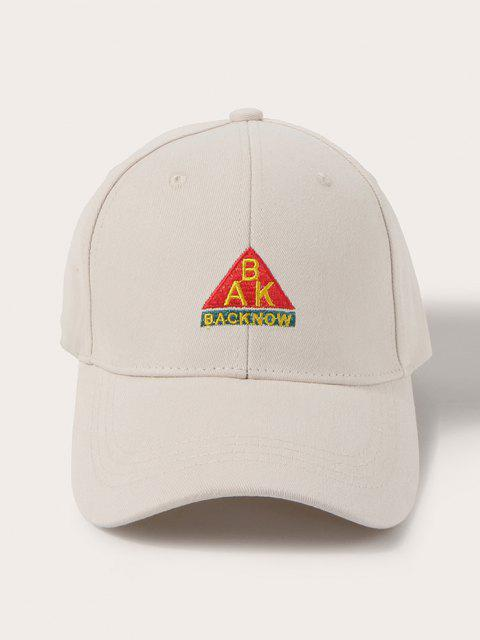 shops Letters Embroidered Graphic Baseball Cap - CORNSILK  Mobile