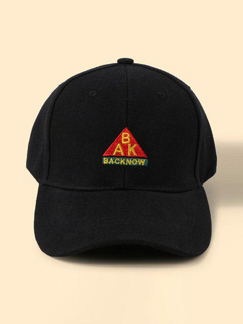 latest Letters Embroidered Graphic Baseball Cap - BLACK  Mobile