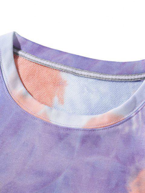 buy Tricolor Tie Dye Printed Sweatshirt - MULTI M Mobile