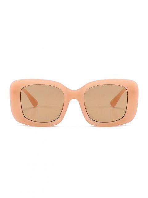 fashion Retro Wide Rim Square Sunglasses - ORANGE PINK  Mobile