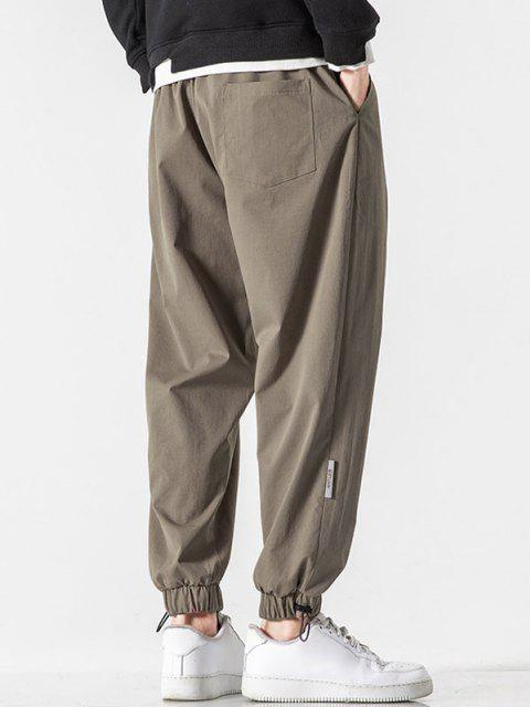 Pantalones Rayados Estampado Letras - Marrón Claro S Mobile