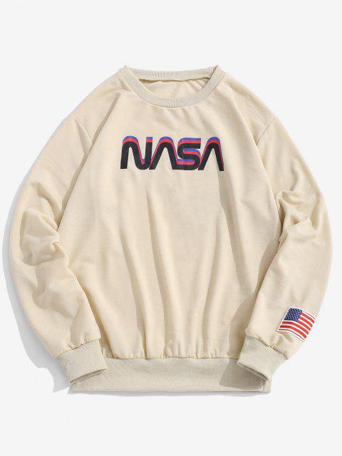 womens ZAFUL Space Shuttle Program Graphic Sweatshirt - LIGHT COFFEE L Mobile