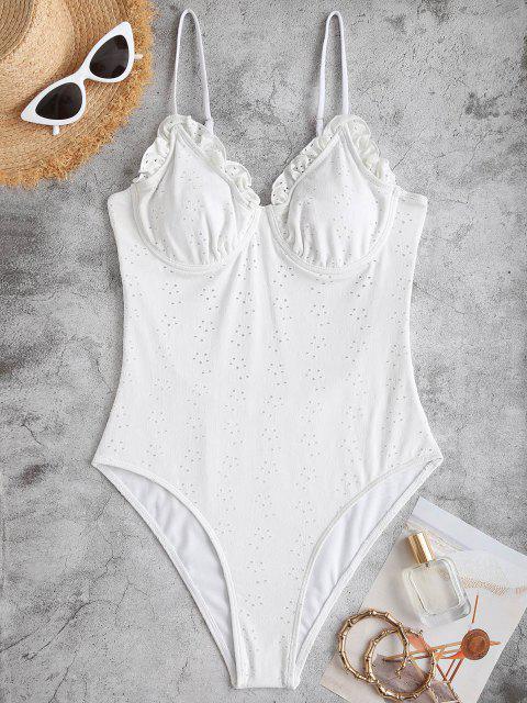 ZAFUL Bustier Badebekleidung mit Bügel und Rüschen - Weiß S Mobile