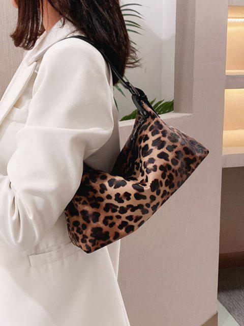 best Animal Print PU Leather Shoulder Bag - BROWN  Mobile