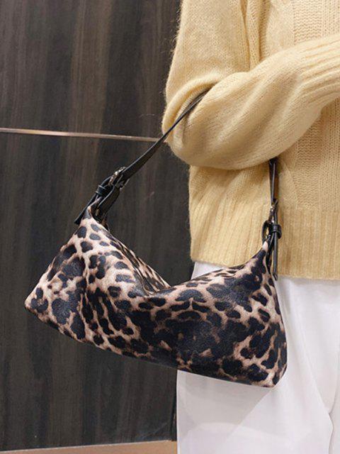 Tierdruck PU Leder Schultertasche - Khaki  Mobile