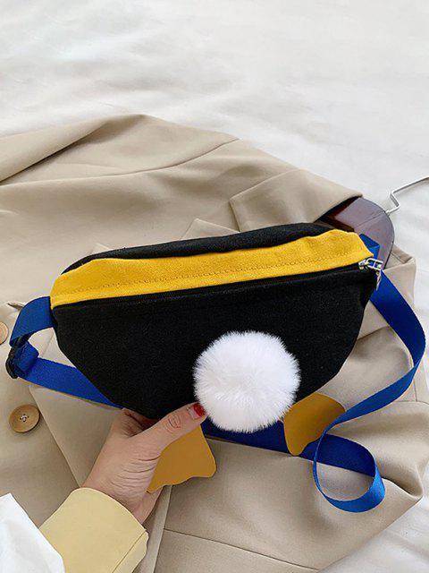Bolsa Cruzada con Diseño de Pato de Bloqueo de Color - Negro  Mobile
