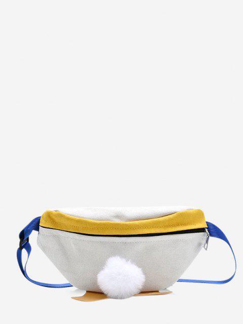 Sac Poitrine Canard Design en Blocs de Couleurs en Canevas - Blanc Naturel  Mobile