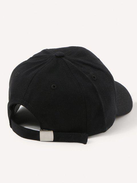 Cappello da Baseball con Ricamo a Lettera - Nero  Mobile