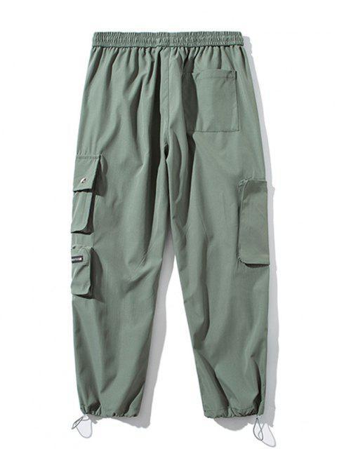 Pantalones de Carga con Bolsillo de Pecho con Cordón - Ejercito Verde XL Mobile