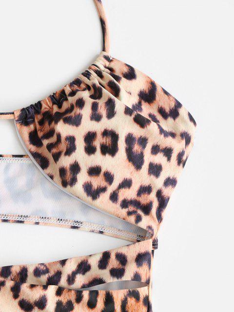 Costume Intero Leopardato con Halter di ZAFUL - Leopardo XL Mobile