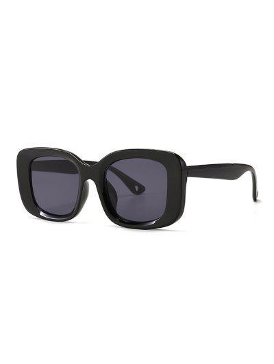 Retro Wide Rim Square Sunglasses - Black