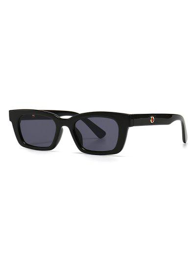 Narrow Hollow Temple Sunglasses - Black