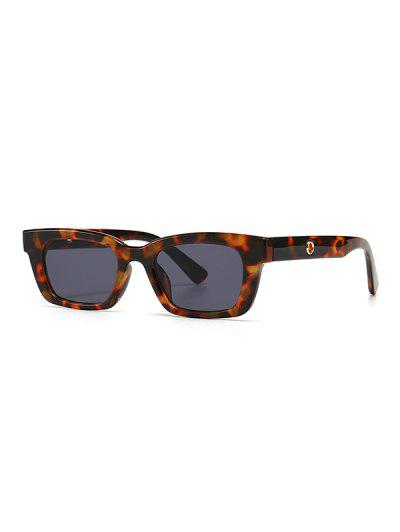 Narrow Hollow Temple Sunglasses - Leopard