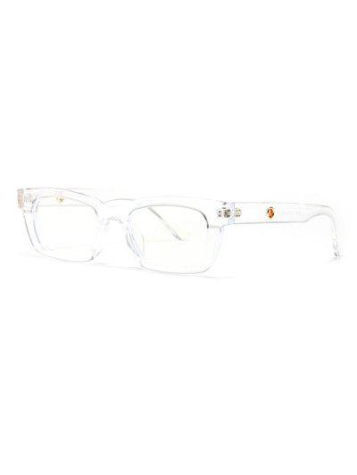 Narrow Hollow Temple Sunglasses - Transparent