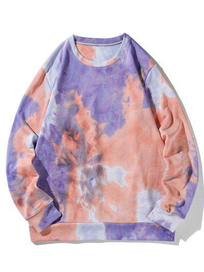 Tricolor Tie Dye Printed Sweatshirt - Multi Xl