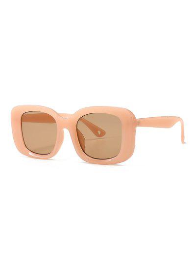 Retro Wide Rim Square Sunglasses - Orange Pink