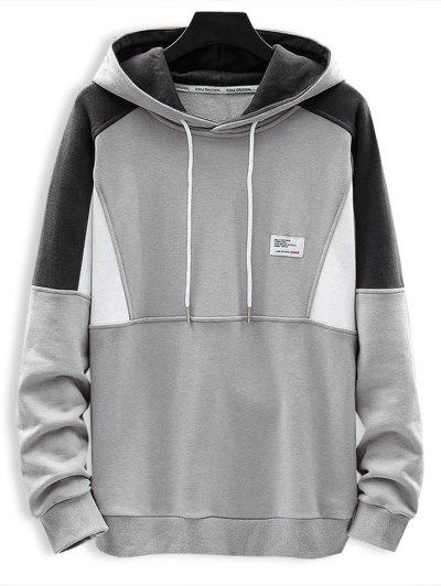 Letter Patch Contrast Hoodie