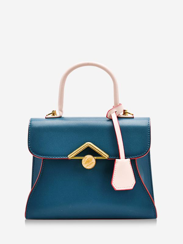 Colorblock Geometric Pattern Handbag