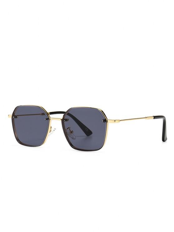 affordable Metal Anti UV Irregular Sunglasses - BLACK