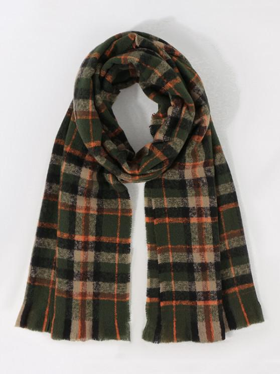 trendy Colorblock Plaid Print Long Scarf - MULTI-D