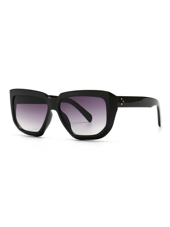 Rivet Oversized Irregular Sunglasses - أسود