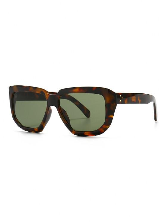 Rivet Oversized Irregular Sunglasses - أخضر غامق