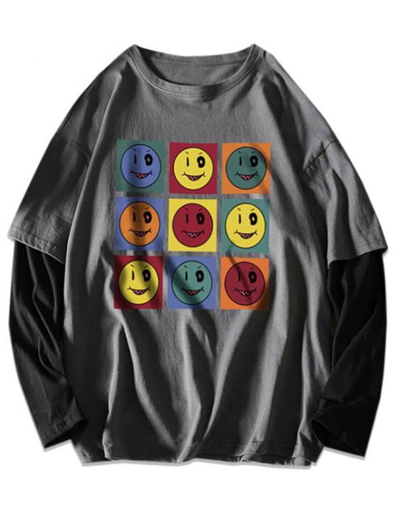 Vindo colhida camiseta sexta-feira  's - Cinzento Escuro L
