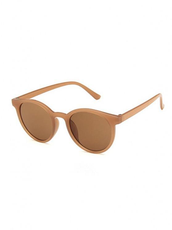 shops Retro Round UV Protection Sunglasses - BROWN SUGAR
