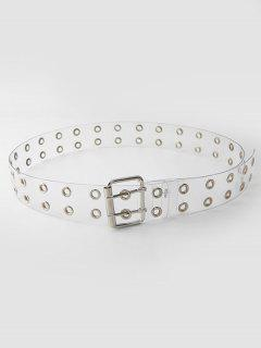 Punk Transparent Grommet Buckle Belt - Transparent